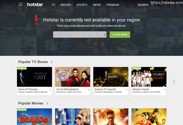 How to access Hotstar outside India